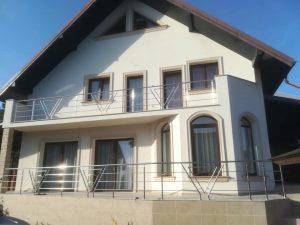Balcon din inox si terasa cu balustrada de inox model triunghi